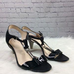 Woman's Black Coach Heels Size 10 B